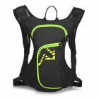 LOCAL LION Outdoor Cycling Dacron Shoulders Bag Backpack w/ Water Bag Compartment - Black