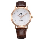 BESTDON BD98105G Men's Fashionable Waterproof Quartz Wrist Watch - Gold + Brown + White (1 x SR626)