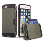 Protective TPU + PC Leather Phone Case w/ Card Slot for IPHONE6 / 6s - Army Green