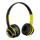 KEEKA 3.5mm Wired Gaming Headband Headsets Headphones w/ Mic. & Remote Wire Control - Yellow + Black