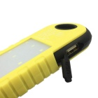 Outdoor Camping 5000mAh Solar Power Bank w/ LED Light - Yellow