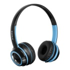 KEEKA 3.5mm Wired Gaming Headband Headsets Headphones w/ Mic. & Remote Wire Control - Blue + Black