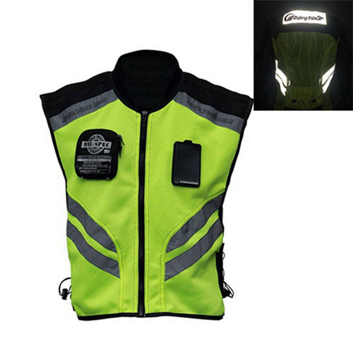 RIDING TRIBE JK-22 Motorcycle Safety Vest - Green + Black (XXL)Motorcycle Clothes &amp; Shoes<br>Form ColorBlack + GreenSizeXXLModelJK-22Quantity1 DX.PCM.Model.AttributeModel.UnitMaterialFluorescent cloth + Oxford fabric + Nylon mesh fabricShade Of ColorBlackTypeJaketWaterproofYesFront Length63 DX.PCM.Model.AttributeModel.UnitBack Length69 DX.PCM.Model.AttributeModel.UnitChest Girth102 DX.PCM.Model.AttributeModel.UnitShoulder Width55 DX.PCM.Model.AttributeModel.UnitPacking List1 x Protective vest<br>