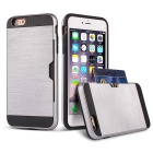R-JUST Protective TPU + PC Case w/ Card Slot for IPHONE 6 PLUS - Silver + Black