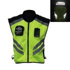 RIDING TRIBE JK-22 Reflective Motorcycle Riding Safety Vest Clothing Waistcoat - Green + Black (XL)
