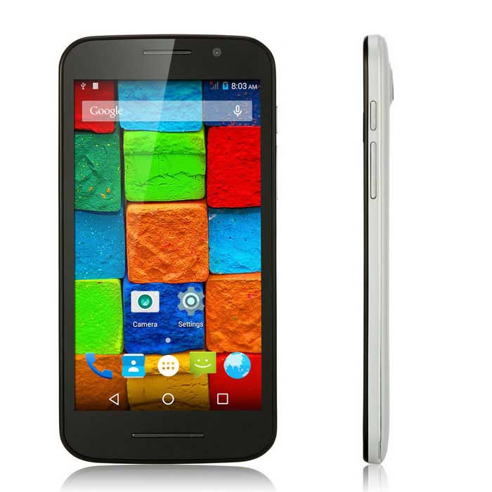 G3 Android 4.4 3G Phone w/ 512MB RAM, 4GB ROM - White + Black