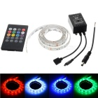 12W Flexible LED Light Strip RGB 900lm 60-SMD 5050 w/ 20-Key Music Remote Controller (1m / DC 12V)