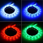 12W flexível tira de luz LED RGB 60-SMD w / 20-Key Music Remote (1m)