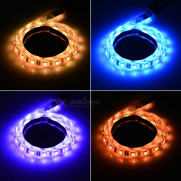 12w flexible led bande lumineuse rgb 60 smd w 20 key music remote 1m envoie gratuit. Black Bedroom Furniture Sets. Home Design Ideas