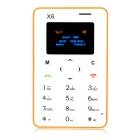 "AIEK X6 Quad Band 4.5mm Ultra Thin Pocket Mini Card Mobile Phone w/ 1.4"" Screen / FM - Yellow"