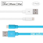 Yellowknife 8pin Lightning to USB Cable - White + Blue (2PCS, 1.5m)
