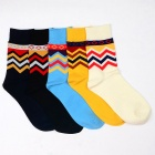 Men's Casual Multi Stripe Pattern Socks (5 Pairs)