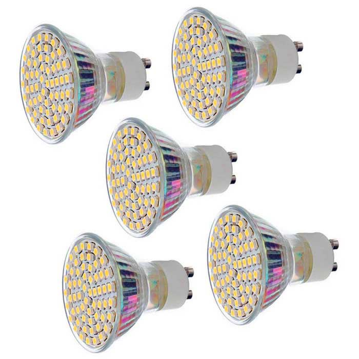 GU10 4.5W LED Bulb Lamp Warm White Light 3000K 450lm 60-SMD (5PCS)