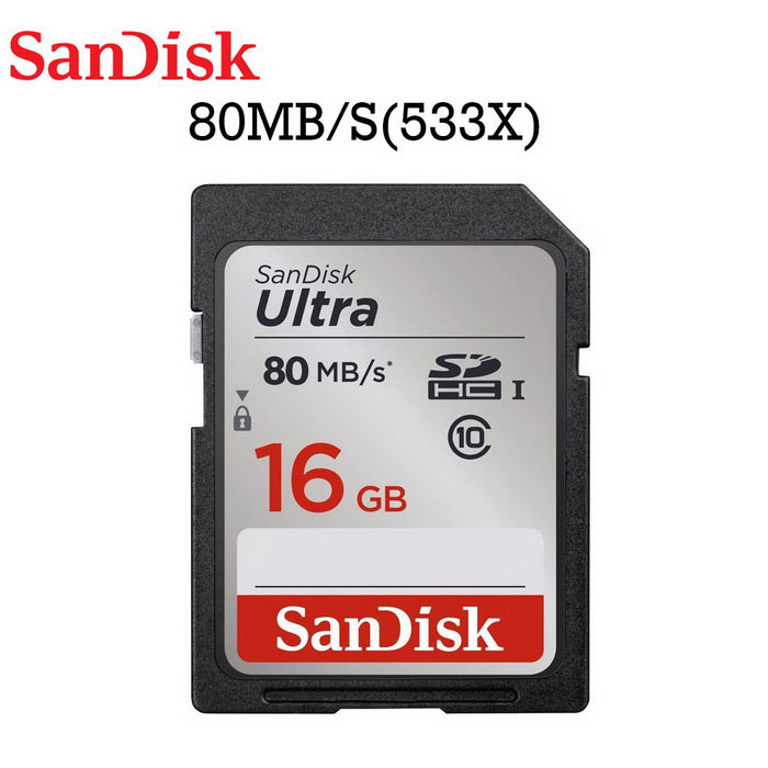 SanDisk Ultra карта памяти 16 GB SDHC 80MB / S (SDSDUNC-016G-ZN6IN)