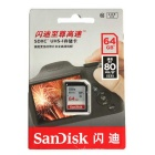 SanDisk Ultra 64 GB SDXC Memory Card 80MB/S (SDSDUNC-064G-ZN6IN)