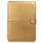 "ASLING Protective PU Leather Flip Open Case for Macbook 12"" - Gold"