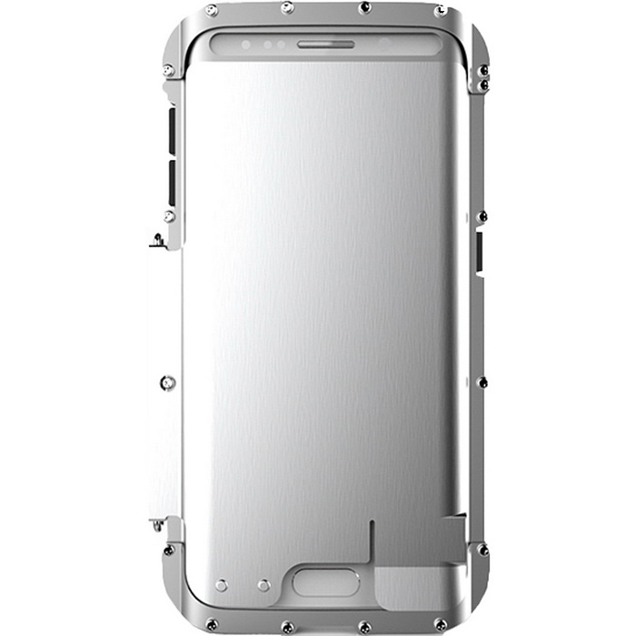 Stainless Steel Case for Samsung S6 Edge - Silver