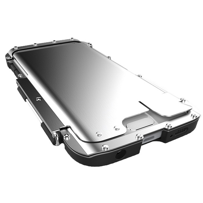 save off e74ad e6e5a Armor King Prortective Shockproof Stainless Steel Case Cover for Samsung  Galaxy S6 Edge - Silver