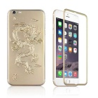 3D Dragon Pattern Explosion-proof Tempered Glass Front + Back Screen Protector for IPHONE 6 - Gold