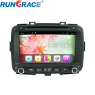 "Rungrace 8"" Android 2 Din Car DVD Player w/ BT, GPS, RDS, Wi-Fi, ISDB-T, IPOD for 2013-15 Kia Carens"