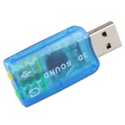 Adaptador virtual de placa de som USB de 5.1 canais - azul