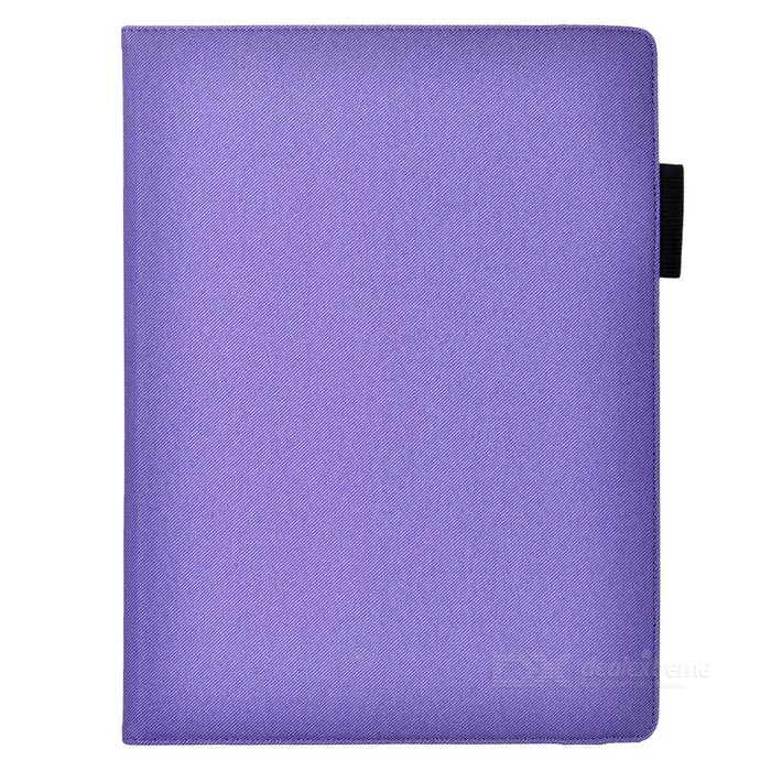 Cwxuan Rotatable PU Case w/ Pen Slot for IPAD PRO - Purple
