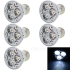 E27 3W 3-LED 100lm 7000K projector luminoso branco azulado (5PCS / AC 220V)