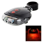 Bicycle Bike 9-Mode 5-LED Red + Multicolor Light Tail Warning Safety Light - Black
