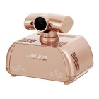 "2.7"" HD TFT 12MP Car DVR w/ Perfume Air Purifier, 4X Zoom, Mic, TF - Rose Gold"