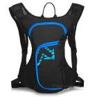 LOCAL LION Outdoor Cycling Dacron Shoulders Bag Backpack w/ Water Bag Compartment - Black + Blue