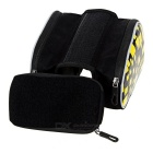 "B-SOUL Bike Tube Saddle Bag w/ Touch Screen for 5.5"" Phone - Yellow"