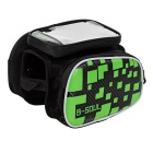 "B-SOUL Bike Tube Saddle Bag w/ Touch Screen for 5.5"" Phone - Green"
