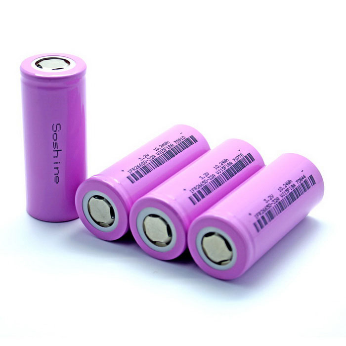 Soshine IFR 26650 3200mAh 30A Rechargeable Flat Top Battery (4PCS)