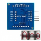 1.8 8X8 Red LED Matrix Display Module with SPI interface for Arduino
