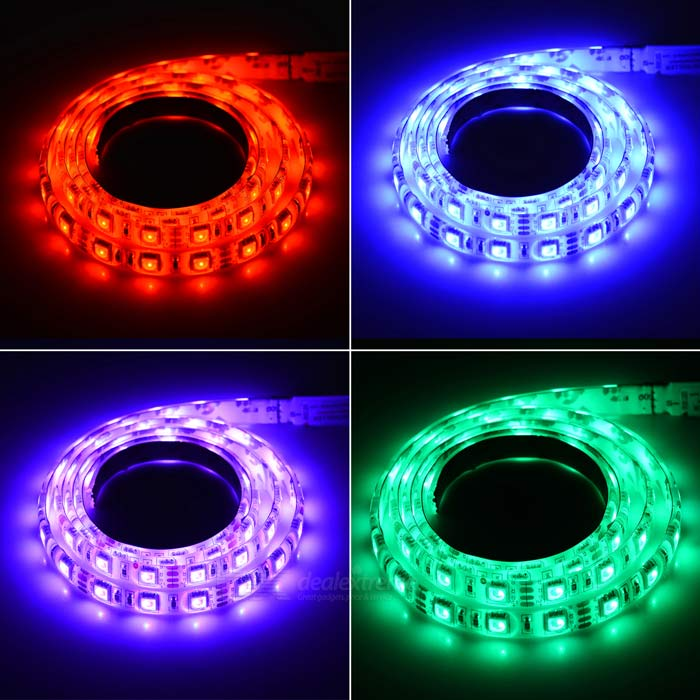 12w flexible led bande lumineuse rgb 60 smd avec 10. Black Bedroom Furniture Sets. Home Design Ideas