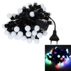 15W Colorful RGB Light 50-LED Twinkle Light String - White (AC 220V / 5m / EU Plug)