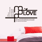 """LOVE"" Words Pattern PVC Wall Sticker Decal - Black"
