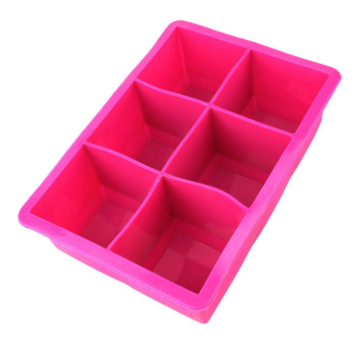 Square Silicone Ice Lattice Ice Tray - Dark Pink