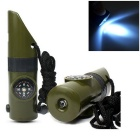 7-in-1 Multifunctional Magnifying Glass & Whistle & Compass & Thermometer & LED Light Survival Kit
