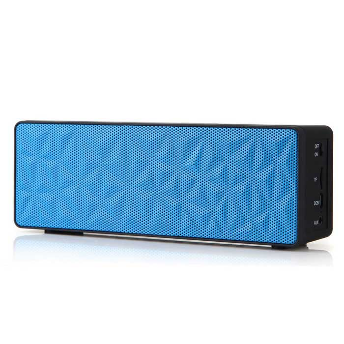 Leapower N16 Water Cubic BT Speaker Support TF Card AUX w/ Mic - Blue