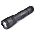 LightsCastle XM-L T6 5-Mode 600LM Cool White Flashlight w/ Clip - Black (1 x 18650)