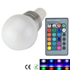 GU5.3 3W Dimmable RGB LED Energy Saving Ball Steep Light w/ Remote Controller (AC 85-265V)
