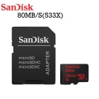SanDisk SDSQUNC-128G-ZN6MA 128GB Ultra Micro SDXC UHS-I / Class 10 Card w/ Adapter
