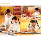 Portable 61-Key Roll-Up Piano Electronic Keyboard Piano - White