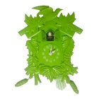 Retro Cuckoo Style Wall Clock / Alarm Clock - Green