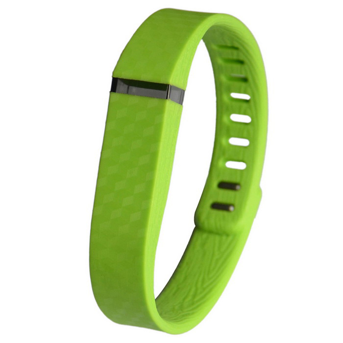 3D Stereo Texture for Fitbit flex Silicone Wristband - Grass Green