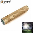 ZHISHUNJIA A2-T6 XM-L T6 LED 800lm 5-Mode Neutral White Flashlight w/ Keychain - Golden (1 x 18650)