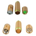 ZHISHUNJIA A2-T6 XM-L T6 LED 5-Mode Neutral White Flashlight - Golden