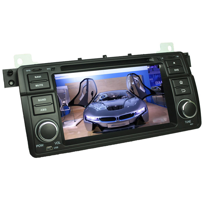 "lsqstar 7"" android auton DVD-soitin w / gps, Wi-Fi BMW E46, M3 -musta"