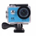 "EOSCN H9 Wi-Fi 2"" 12MP 4K Action Camera w/ Fish-eye Lens - Blue"